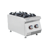 Gas fired double burner furnace