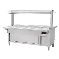 Luxury Bain Marie with Dish Warmer Cabinet