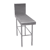 Detachable Square Tube Work Table with Back