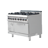 700S Gas Cooker with 6 Burner with Oven & Cab