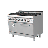 700S Gas Cooker with 6 Burner with Electric O