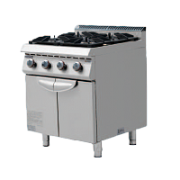 700S Gas Cooker with 4 Burner & Cabinet