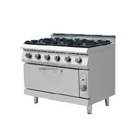 700S Gas Cooker with 6 Burner with Oven