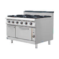 900S European Gas Cooker with 6 Burner with O