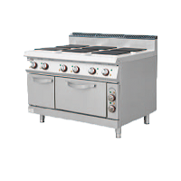 900S Electric 6 Hotplate Stove with Oven & Ca