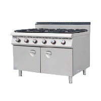 900S European Gas Cooker with 6 Burner with C