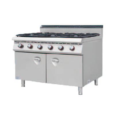900S European Gas Cooker with 6 Burner with Cabinet