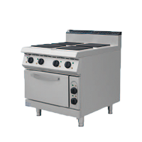 900S Electric 4 Hotplate Stove with Oven