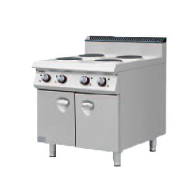 900S Electric 4 Round Hotplate Stove with Cabinet