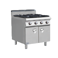 Gas Cooker with 4 Burner with Cabinet