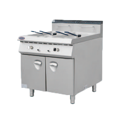 Electric Fryer with Two Tanks include Two Basket with Cabinet