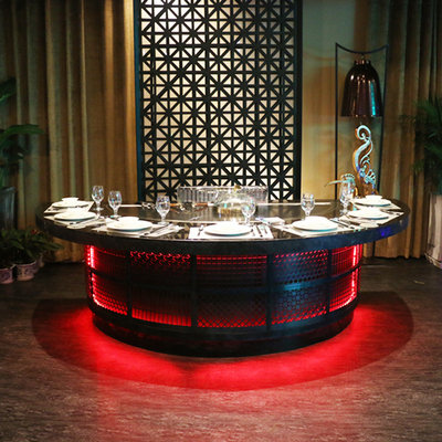 Semicircle Teppanyaki Table Equipment For Restaurant