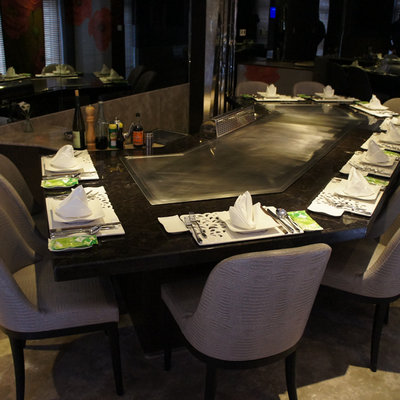 Bow Teppanyaki Table Equipment For Restaurant