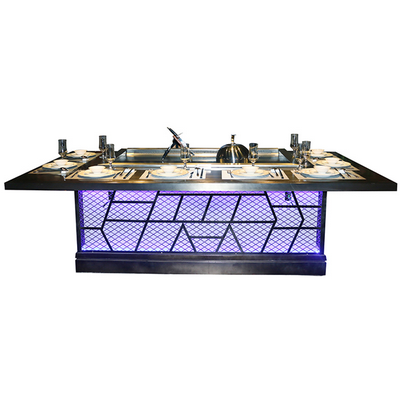 Rectangle Teppanyaki Table For Restaurant