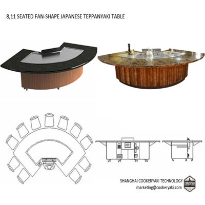 Sector Teppanyaki Table Equipment For Hotel